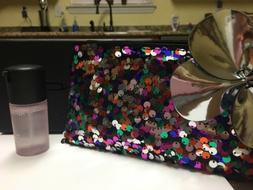 MAC SHINY PRETTY THINGS SEQUINED MAKEUP BAG & ROSE PREP+PRIM