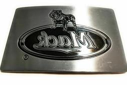 "MACK Truck Logo Belt Buckle  Antique silver Color 4 "" wide X"