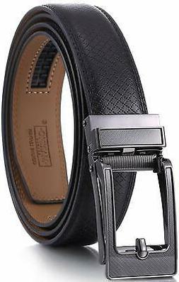 Marino Avenue Mens Genuine Leather Ratchet Dress Belt with L