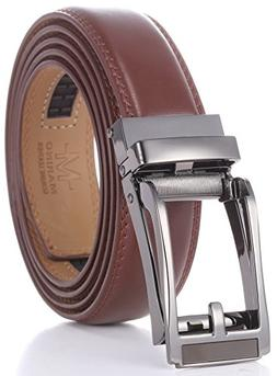marino mens genuine leather ratchet dress belt
