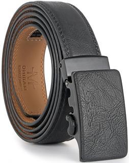 Marino Men's Genuine Leather Ratchet Dress Belt With Autom