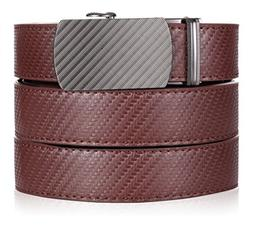 Marino Ratchet Leather Dress Belt For Men - Adjustable Click