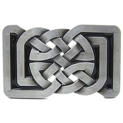 Masop Square Keltic Celtic Knot Belts Buckle Rectangle Vinta