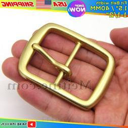 Meitme Solid Brass Belt Pin Buckle Square Mens Belt Buckles/