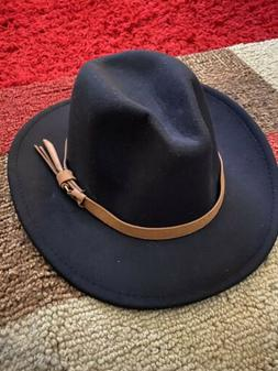 Lisianthus Men & Women Vintage Wide Brim Fedora Hat with Bel
