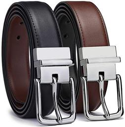 Bulliant Men Belt-Leather Reversible Belt for Men With Singl
