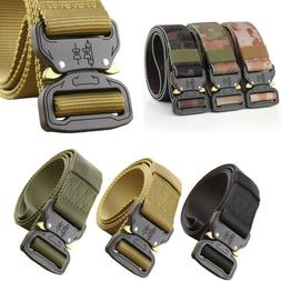 Men Military Belt Buckle Combat Waistband Tactical Band Adju