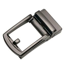 Men Ratchet Metal Leather Belt Buckle Replacement Automatic