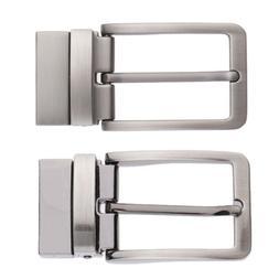 Men Reversible Metal Alloy Belt Buckles Replacement Rectangu