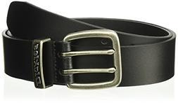 Dickies Men's  38mm Metal Loop Logo Belt,Black,44