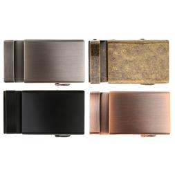 Men's Automatic Slide Buckle Replacement Metal Rectangle Rat