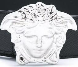 Men's  Belt Buckle Head Designer. Silver Tone