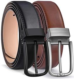 Men's Belt,Bulliant Grain Leather Belt for Men with Pin Buck