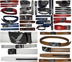 Men's belt. Leather Dress Belt. Automatic Lock, Click Comfor