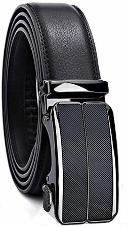 Men's Belt,Bulliant Leather Ratchet Belt for Men with Slidin
