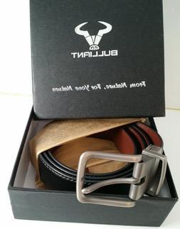 """Men's Belt, Bulliant Leather Reversible Belt 1.25"""",One Belt"""
