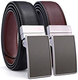 "Men's Belt, Bulliant Leather Reversible Belt 1.25"",One Belt"