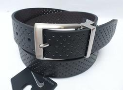 NIKE GOLF Men's Belt *Perforated Black/Brown w/Silver Buckle