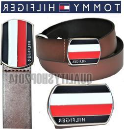 Tommy Hilfiger Men's  Belt with Plaque Logo Buckle MSRP: 49.