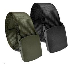 Men's Black or Navy Tactical Heavy Duty Elastic Military Bel