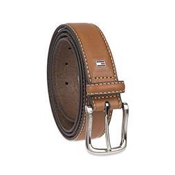 Tommy Hilfiger Men's Casual Belt, brown logo, 44