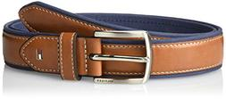Tommy Hilfiger Men's Casual Fabric Belt, Navy Leather, 42