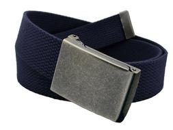 Men's Distressed Silver Flip Top Military Belt Buckle with C