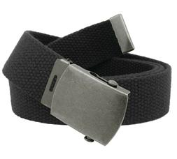 Men's Distressed Silver Slider Military Belt Buckle with Can