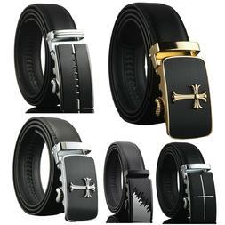 Men's Dress Belt Genuine Leather Adjustable Automatic Buckle