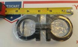 Men's fashion designer Belt Buckle. Black Tone. Made in Ital