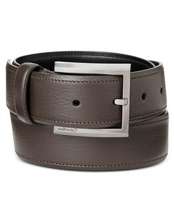 Calvin Klein Men's Feather-Edge Dress Belt Buckle Espresso B