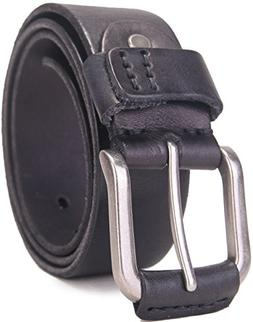 "Beltox Fine Men's Full Grain 1 1/2"" Italian Leather Belt wit"