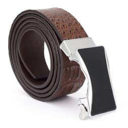 men's leather luxury business Automatic <font><b>buckle</b><