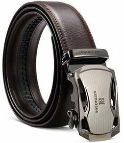 BOSTANTEN Men's Leather Ratchet Dress Belt With Automatic Sl