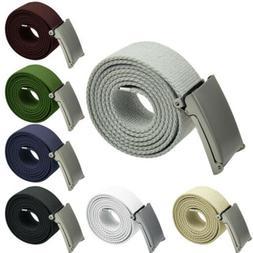 Men's Tactical Military Waist Strap Canvas Webbing Belt Buck