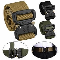 Men's Outdoor Tactical Military Combat Canvas Nylon Belt Buc