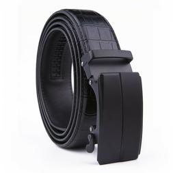 Men's Ratchet Belt Leather Dress Belts with Automatic Buckle
