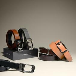 Men's Ratchet Dress leather Belt Custom Fit, Automatic Belt