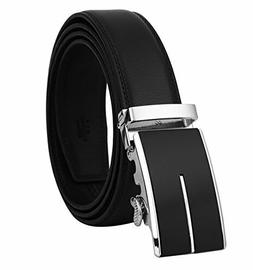 Dante Men's Real Leather Ratchet Dress Belt with Automatic B