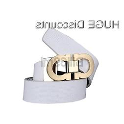Men's Smooth Leather Buckle Belt 35mm Leather up to 42inch (