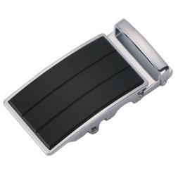 Men's Solid Belt Buckle Replacement,Automatic Ratchet Leathe