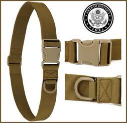 Men's Tactical Military Outdoor Combat Nylon Canvas Belt Buc