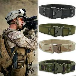 Men Tactical Military Nylon Belt Adjustable Outdoor Army Sty