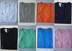 Men Polo Ralph Lauren V-Neck T Shirt Size S M L XL XXL - NWT