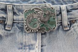 Men Women Belt Buckle Silver Metal Western Fashion Chinese D