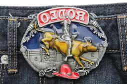 Men Women Belt Buckle Silver Metal Western Fashion Riding Bu
