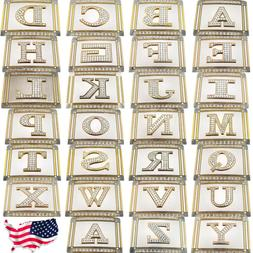 Men Women Belt Buckles Initial Letter USA American Alphabet