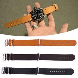 Men Women Leather Watch Strap Band Wristwatch Belt Buckle Re