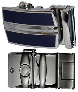 men's belt buckle ratcheting automatic self-lock track lin