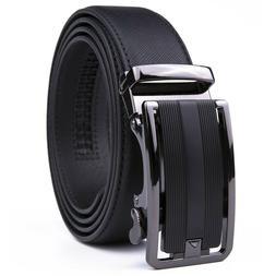 Mens Belts Leather Dress Belts Ratchet Belt Automatic Buckle